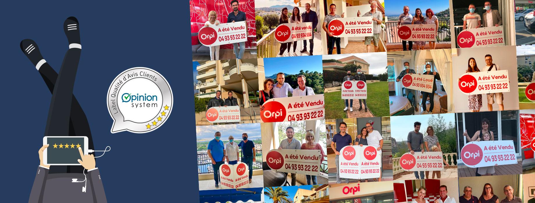 Avis clients agence immobilière Orpi Mandelieu